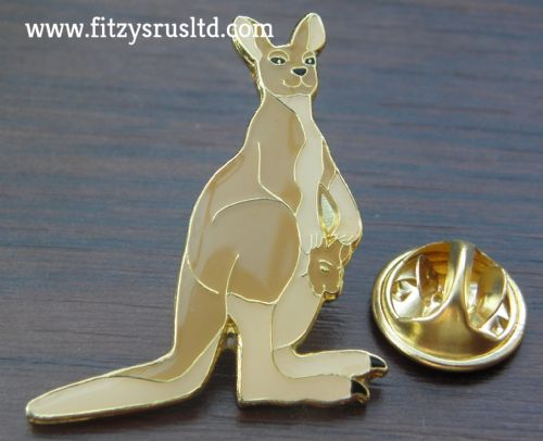 Kangaroo Lapel Hat Cap Tie Pin Badge Australia Australian Brooch Animal Lovers Gift